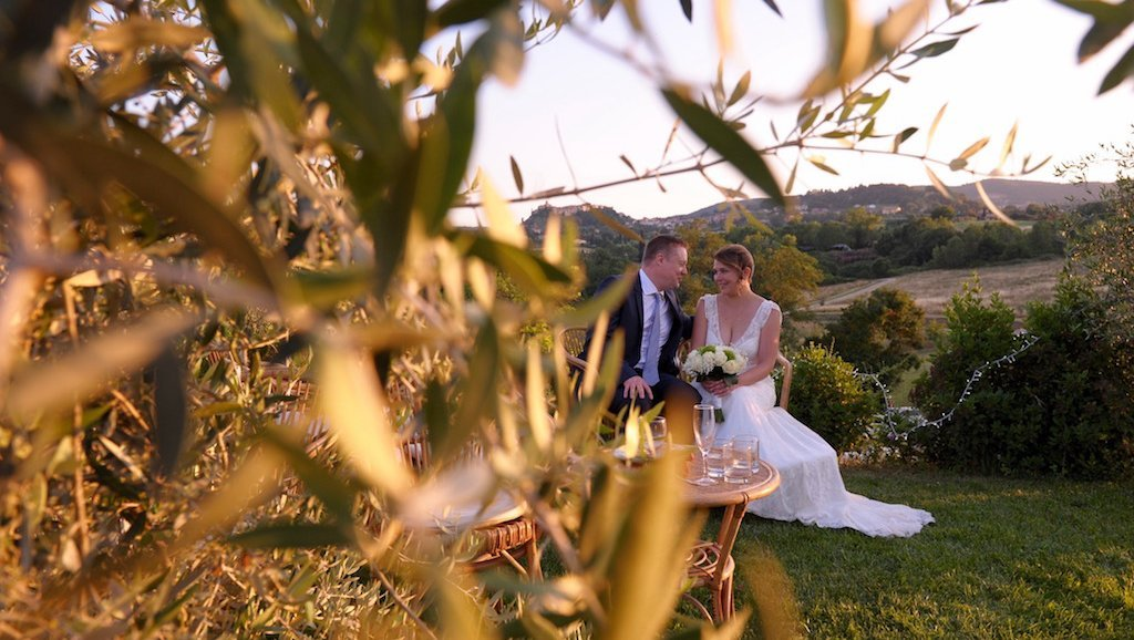 Pauline&Olivier couple mariage toscane Fonteleccino