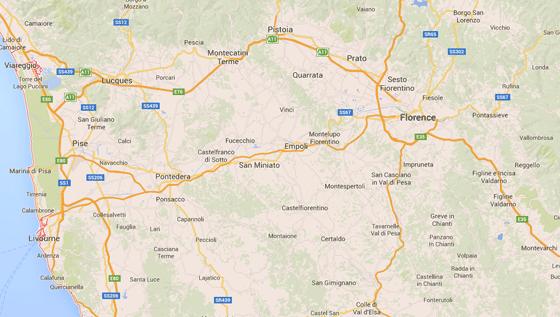 Carte de la Toscane - Pauline&Olivier