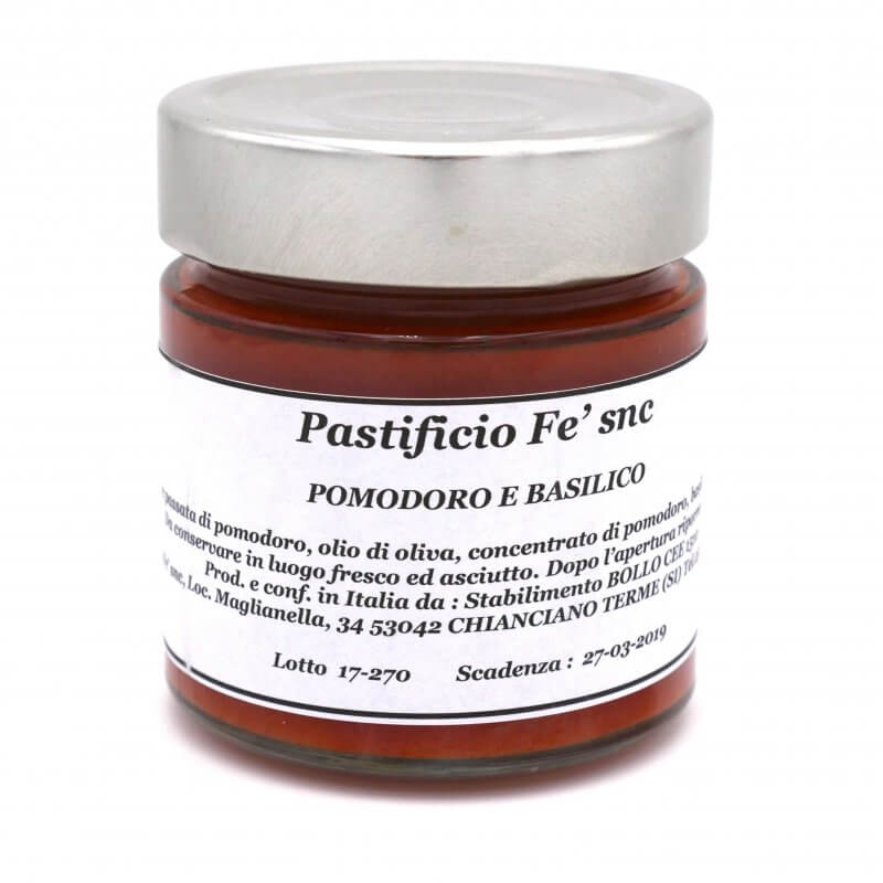 Sauce tomate et Basilic - Pauline&Olivier