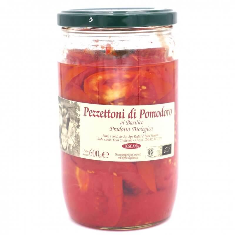 Tomates entières et basilic à l'huile d'olive extra vierge Bio - Azienda Agricola Radici - Pauline&Olivier