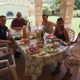 Déjeuner avec Cristina,Guido et Giacinta Trivero - Pauline&Olivier