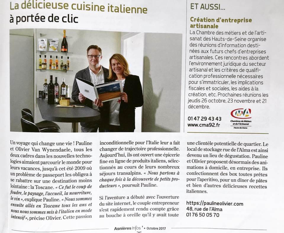 Asnières Magazine - Pauline&Olivier