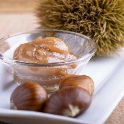 Crèmes de marron bio, confitures et miel