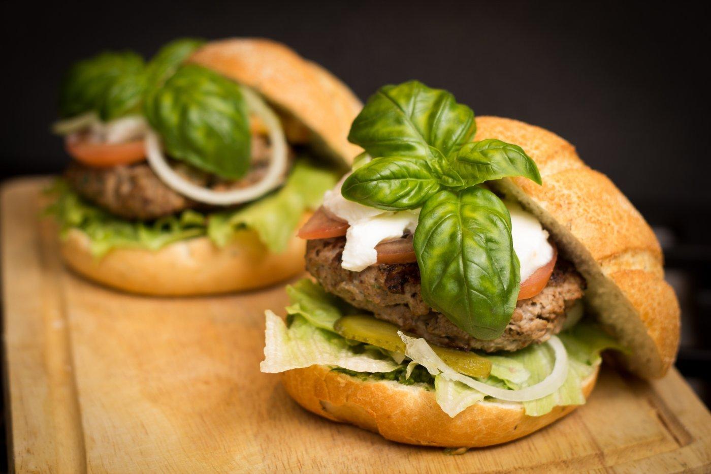 Burger Italien au Pesto Bio by Pauline&Olivier