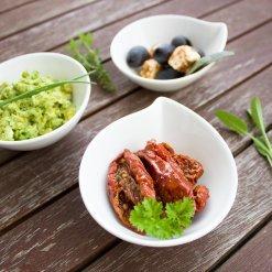 Antipasti bio et crèmes de légumes d'Italie