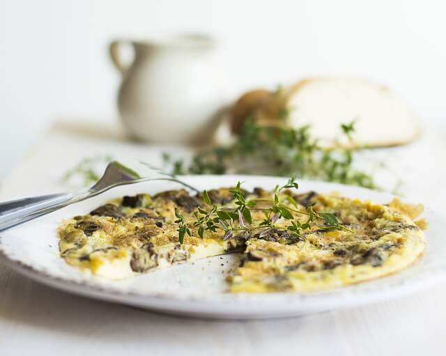 omelette cèpes et truffes - recette par Pauline&Olivier