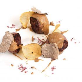 Burger de poulet crème de cèpe et truffe blanche d'Alba by Pauline&Olivier