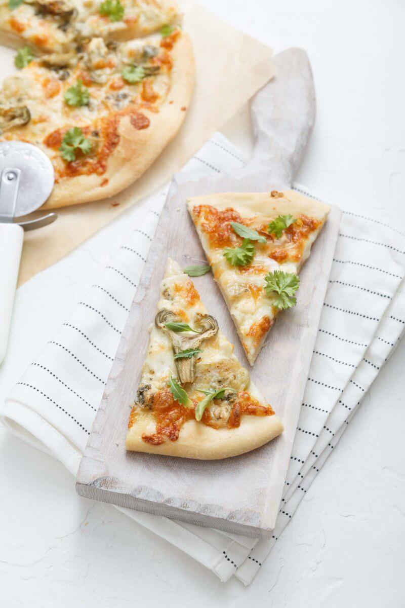Pizza 4 saisons et crème d'artichaut à la truffe d'été - Truffes&Co
